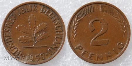 Niemcy, 1950, 2 PFENNIG