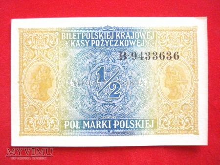 1/2 marki polskiej 1916 rok