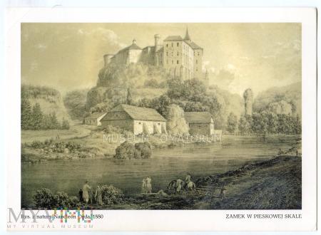 Pieskowa Skała od zachodu - ok. 1880 r.