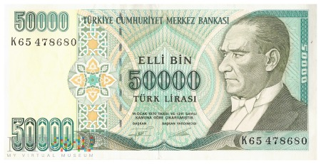 Turcja - 50 000 lir (1999)