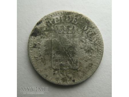 1 NEU GROSCHEN / 10 PFENNIGE - Saksonia (1855)