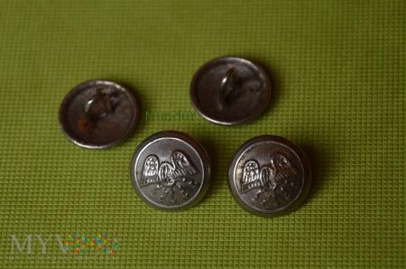 Guzik mundurowy metalowy mały - łączność