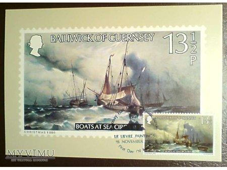 Bailiwick of Guernsey 1980 Karta Maximum Statki