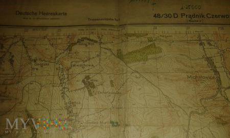 Duże zdjęcie Prądnik Czerwony mapa niemiecka 1944
