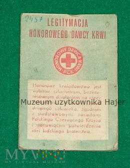 Legitymacja Honorowego Dawcy Krwi JW 2457