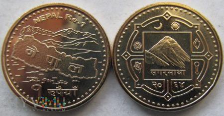 Nepal, 1 rupia 2007