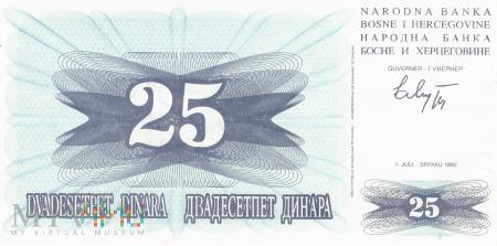 Bośnia i Hercegowina - 25 dinarów (1992)