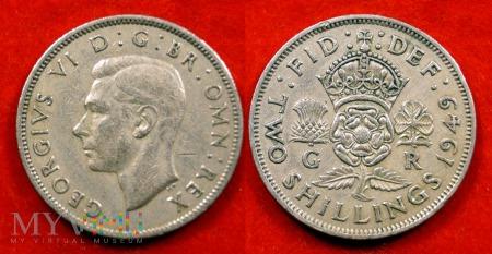 Wielka Brytania, 2 SHILLINGS 1949