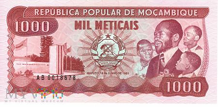 Mozambik - 1 000 meticali (1983)