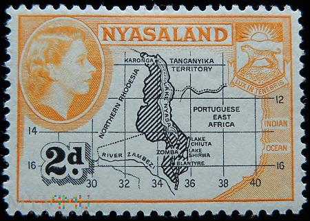 Niasa 2d Elżbieta II Nyasaland