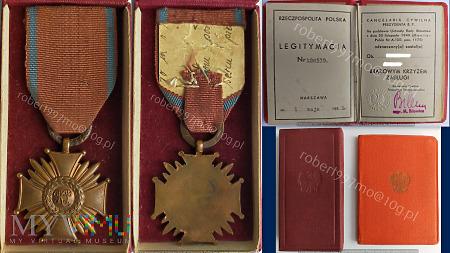 Brązowy Krzyż Zasługi.
