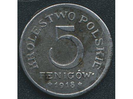 5 fenigów 1918