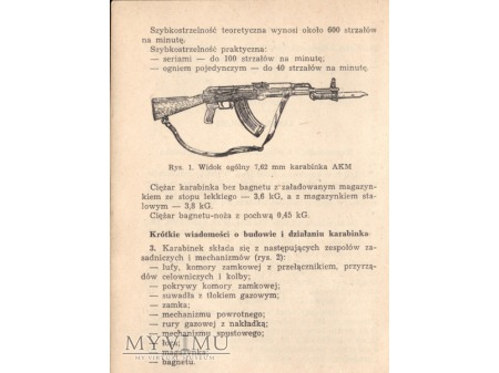 INSTRUKCJA - 7,62 mm kbk AKM