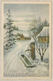 1940 kartka świąteczna