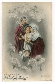 PRL Boże Narodzenie Święta Rodzina 1960