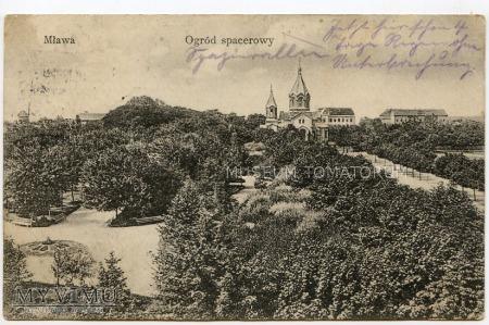 Mława - Ogród spacerowy - 1916
