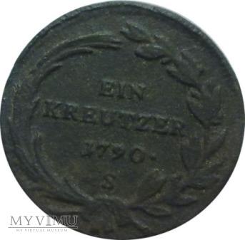 1 krajcar 1790 rok