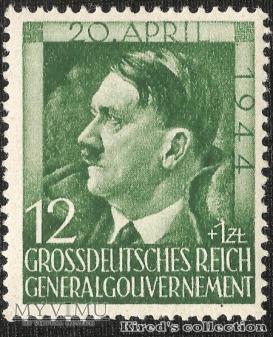 """12 gr + 1 zł """"55 rocznica urodzin Hitlera"""""""