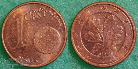 1 EURO CENT 2002 F Niemcy