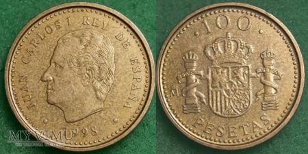 Hiszpania, 100 PESETAS 1998