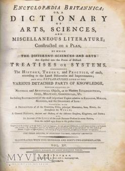 Duże zdjęcie Encyklopedia Britannica tom 15 z 1797 roku
