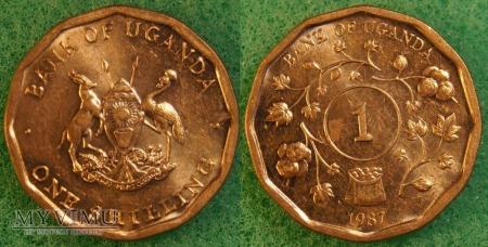 Uganda, 1 Shilling 1987