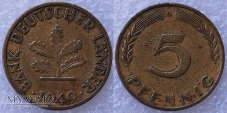 Niemcy, 1949, 5 Pfennig
