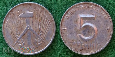 Niemcy, 5 Pfennig 1952