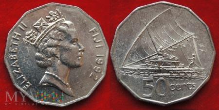 Fidżi, 50 centów 1992