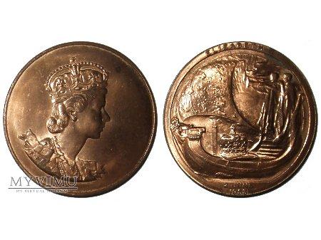 Duże zdjęcie Elżbieta II Wielka Brytania medal koronacyjny 1953