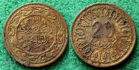 Tunezja, 20 millimes 1993