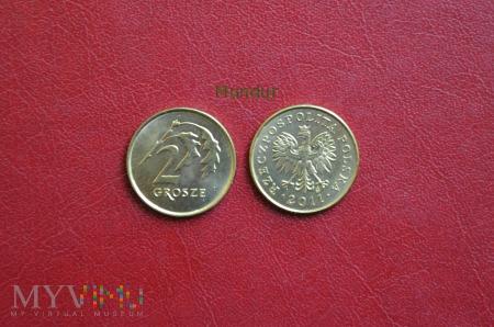 Moneta: 2 grosze od 1995r.
