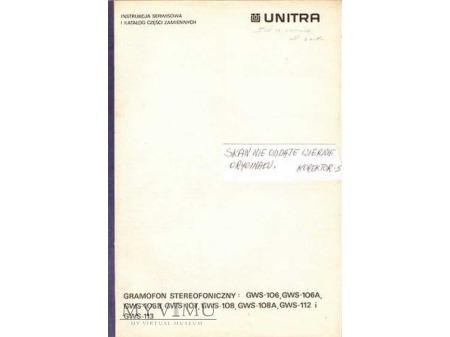 Instrukcja serwisowa gramofonu GWS-106 do GWS-113