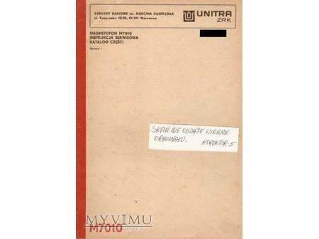 Instrukcja serwisowa magnetofonu M-7010