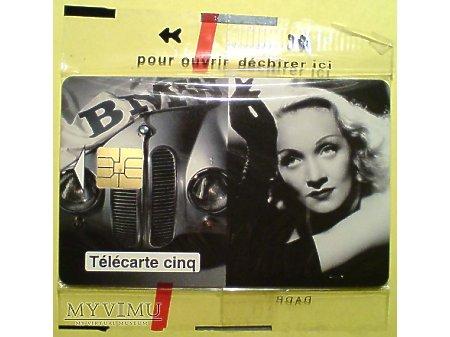 Duże zdjęcie Marlene Dietrich BMW karta telefoniczna 1995 auto