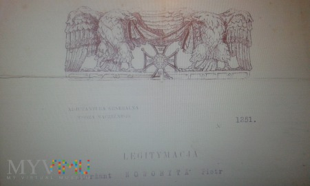 Legitymacja Virtuti Militari Piotr Noworyta