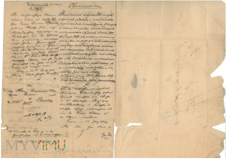 Obwieszczenie Wieleń 1859