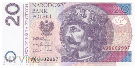Duże zdjęcie Polska - 20 złotych (2016)