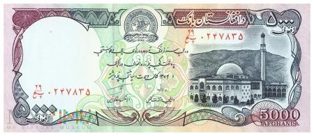 Afganistan - 5 000 afgani (1993)