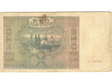 100 ZŁOTYCH KRAKÓW 1941
