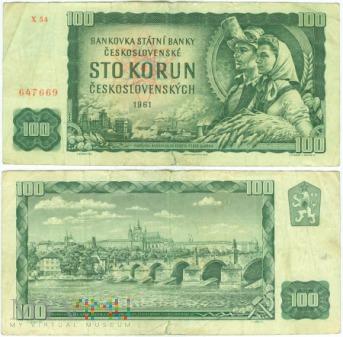 Czechosłowacja, 100 koron 1961r