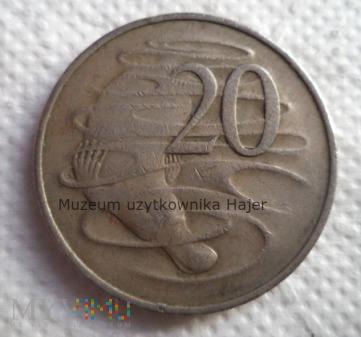Duże zdjęcie Australia - 20 centów - 1966 rok