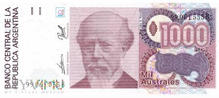 Argentyna - 1 000 australi (1990)