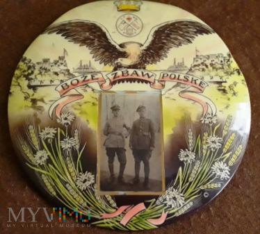 Fotografia żołnierze II RP grafika patriotyczna