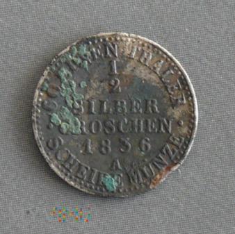 1/2 silber groschen pół srebrnego grosza