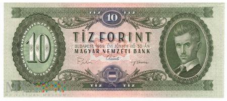 Węgry - 10 forintów (1969)