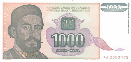 Jugosławia - 1 000 dinarów (1994)