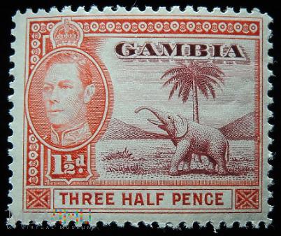 Gambia 1½d Jerzy VI