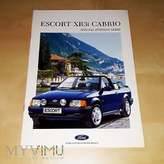 Duże zdjęcie Prospekt Ford Escort XR3i Cabrio Special Editions