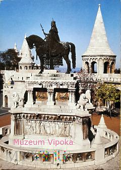 Budapeszt - konny pomnik króla Węgier św. Stefana